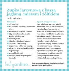 Przepisy dla niemowlaka - Zupki dla niemowlaka | Strona 14 | Baby online 1 Year Old Meals, Baby Eating, Kids And Parenting, Baby Food Recipes, Baby Boy, Food And Drink, Menu, Cooking, Dishes