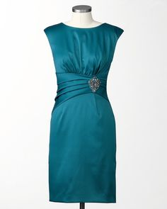 Jeweled Sateen Sheath in Teal (so pretty!) from Coldwater Creek
