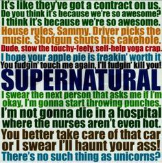 Supernatural quotes