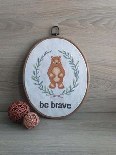 Be brave cross stitch patterns printable Baby cross by AnnaXStitch