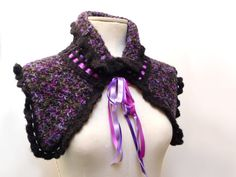 RESERVED  Ribbons scarflette/cowl by ixela on Etsy, $50.00
