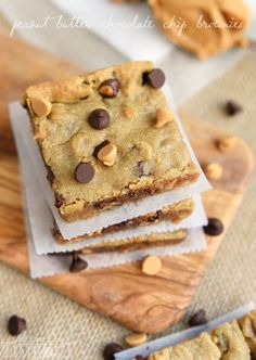 Peanut Butter Chocolate Chip Brownies - 14 Amazing Chocolate Chip recipes