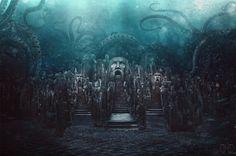 The Lost City of Poseidon by Donna Mae Dingding / Majentta.deviantart.com on @DeviantArt