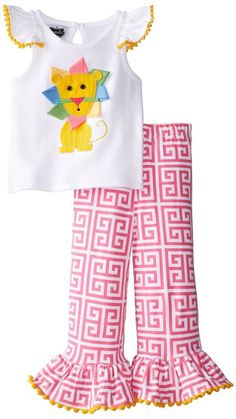 MUD PIE SAFARI LION PANT AND TOP SET INFANT BABY GIRL 6-9M, 9-12M #MudPie #DressyEveryday