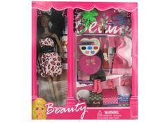 Black Fashion Doll with Dress and Accessories (Case of 2)