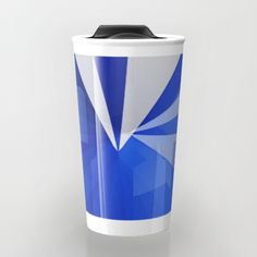 Buy Abstract blue  Travel Mug by Christine baessler. Worldwide shipping available at Society6.com. Just one of millions of high quality products available.