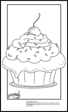 """iColor """"Cupcakes"""" ~ Cupcake with Cherry Topper"""