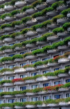 'Plant boxes decorate facade of Shangri-La Hotel in Bangrak.', art print by Lonely Planet Images  on artflakes.com