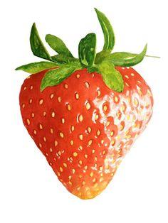 #watercolour #watercolor #art #strawberry #fruit #red #brigitteklassenart