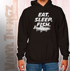 Eat Sleep Fish Hoodie