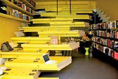Van Alen Books' Recycled Door Bookstore Storefront, designed by LOT-EK