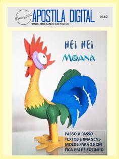 Hei Hei em feltro - Moana