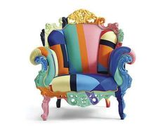 The colourful Proust Geometrica Mendini Armchair was designed by Alessandro Mendini for the Italian manufacturer Cappellini.The story of Cappellini began back i Funky Furniture, Colorful Furniture, Unique Furniture, Painted Furniture, Furniture Design, Furniture Chairs, Art Furniture, Cheap Furniture, Luxury Furniture