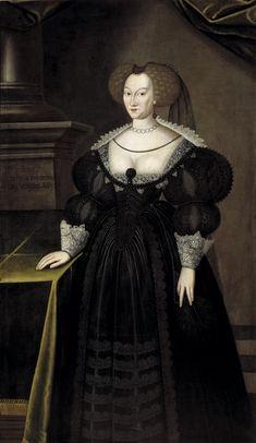 Maria Eleonora of Brandenburg, 1599-1655, (Jacob Heinrich Elbfas) - Nationalmuseum.