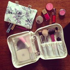 My new makeup bag from Paul & Joe. It's like a cosmetic filofax.  Web Instagram User » Followgram