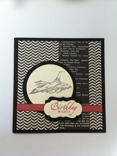 Stampin Up, Need for Speed. Birthday card for my cousin.