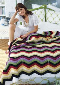 Free PDF Chevon crochet blanket... just dreamy. Thanks for putting up this lovely xox