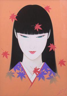seikougarou.co.jp-1 Art Deco Paintings, Geisha Art, Romantic Paintings, Vaporwave Art, Korean Art, Love Illustration, Japan Art, Japanese Artists, Oriental
