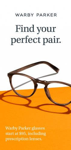 Get started with our free Home Try-On program, where you can try on five pairs of glasses, for five days. In addition, for every pair sold, a pair is distributed to someone in need. Find your Warby Parker pair today.