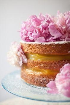 DIY Bridal Shower Naked Cake Recipe: Lavender Infused Cake with Lemon Filling Recipe   Washington DC Weddings, Maryand Weddings, Virginia Weddings :: United With Love™ :: Fresh Inspiration, Ideas and Vendors Gorgeous Cakes, Pretty Cakes, Amazing Cakes, Bolos Naked Cake, Naked Cakes, Food Cakes, Cupcakes, Cupcake Cakes, Lavender Cake