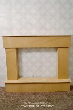 How to Make a Fake Fireplace Out of a Bookshelf | Fireplace ...