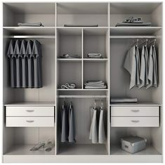 Complete your living space with the superb organizational capabilities of this contemporary four-drawer freestanding armoire. Wearing a white gloss finish, this spacious armoire offers nine shelves and enough space to hang your clothes. Wardrobe Furniture, Wardrobe Design Bedroom, Diy Wardrobe, Wardrobe Cabinets, Bedroom Wardrobe, Bedroom Furniture Design, White Wardrobe, Modern Wardrobe, Armoire Wardrobe