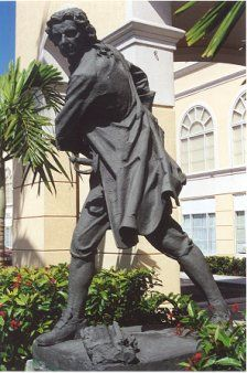 "Woodes Rogers was one of the most notable persons that have ever lived in the Caribbean. This Englishman was a privateer and later became the first governor of Bahamas, charged with ridding the Caribbean of pirates. By 1700, Nassau was virtually ruled by pirates with ""lawless riot and drunken revelry"". His mission was to harass Spanish shipping - to the English he was a loyal citizen but to the Spanish he was a pirate. As Governor, he is said to have pardoned more than 2,000 pirates."