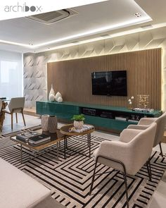 These 4 Living Room Trends for 2019 – Modells. Living Room Trends, Living Room Tv, Living Room Designs, Living Spaces, Muebles Living, Design Salon, Interior Architecture, Interior Design, Furniture Design