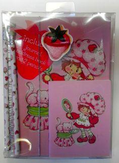 Set of 4 : Address Book Journal 2 Pencils Strawberry Shortcake. Childhood Friends, Childhood Memories, Vintage Stuff, Vintage Toys, Vintage Strawberry Shortcake Dolls, Short Cake, American Greetings, Diy Invitations, Book Journal