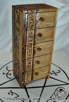 "Supernatural Inspired  ""5 Drawered Curse Box"" Curse Box on Etsy, $70.00"