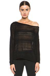 HELMUT Helmut Lang Supple Blend Long Sleeve Pullover in Black