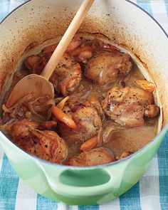 Moroccan Braised Chicken with Carrots & Golden Raisins