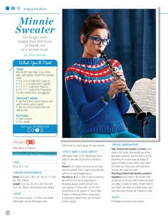 Minnie Sweater - from Crochet Today Jan Feb 2013 issue - crochet pattern for a fair isle sweater ❤️