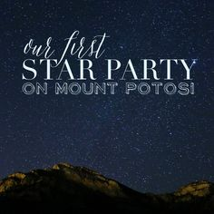Our very first Star Party on Mount Potosi Las Vegas! We saw Jupiter, the orion nebula and a double star. See tips for your visit!