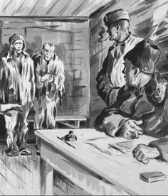 Workers are interrogated by the Commander of a labour camp (gulag) - Siberia Virtual Museum