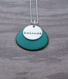 Jade Green Tagua Necklace With Personalized disc by klacustomcreations,