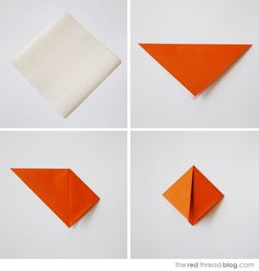 the red thread :: create, inspire, share   MAKE :: Origami fish wall art with your kids   http://www.theredthreadblog.com