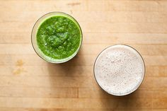 Banana Date Smoothie & Apple Kale Ginger Smoothie