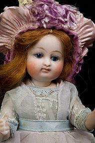 """5 1/2"""" Kestner all-bisque Pouty with rarest Yellow stockings! AVGUSTA'S BISQUE DOLLS on DOLL SHOPS UNITED http://www.dollshopsunited.com/stores/abidolls/items/1282044/Kestner-all-bisque-Pouty-rarest-stockings #dollshopsunited"""