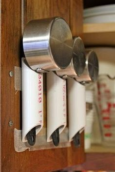 DIY - PVC pipe for kitchen organizing by Ashbee Design, Hold measuring spoons and cups