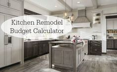 Kitchen Remodel Budget Calculator -- easy to use tool for figuring how much to spend on your remodel.