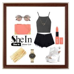 """SheIn Shine out"" by snjezanamilovanovic233 ❤ liked on Polyvore featuring Topshop, Glamorous, Foley + Corinna, Charlotte Russe, Marc by Marc Jacobs, Banana Republic and Linda Farrow"