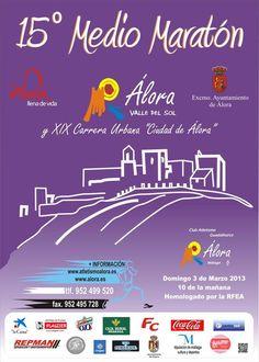 XV Media Maratón de Álora en la que participé el 3 de marzo de 2013, mi primera participación en una Media Maratón en mi vida, a los casi 35 años de edad.