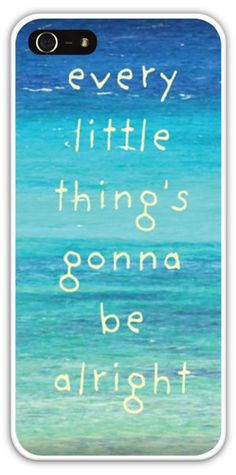 Every little thing's gonna be alright Bob Marley Three Little Birds Cell Phone Case Cover iPhone 4 4S 5 5S 5C Samsung Galaxy S3 S4 Ocean Sea $24.99+FREE SHIPPING!