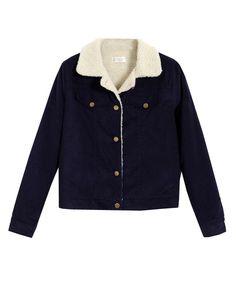 Lined Corduroy Coat - Jackets & Coats - Tops - Clothing