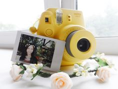 flower crown with instax mini8