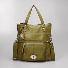 Maddox Convertible Foldover Tote. Love this shade of olive.