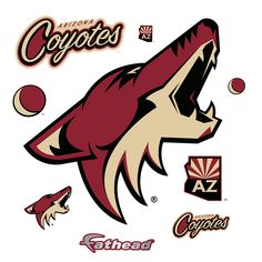 Put your passion on display with a giant Arizona Coyotes: Logo - Giant Officially Licensed NHL Removable Wall Decal Fathead wall decal! Coyotes Hockey, Nhl Logos, Arizona Coyotes, Removable Wall Decals, Catalog, Animals, Car, Fashion, Wolves