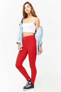 0c10dfd2b1b Forever 21 Classic Leggings Knit Leggings
