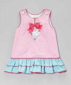 Take a look at this Pink Gingham Ornament A-Line Dress - Infant, Toddler & Girls on zulily today!